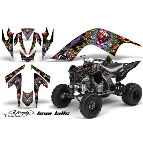 Графика для Yamaha Raptor 700 (Ed Hardy Love Kils)