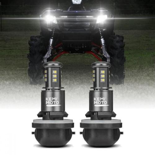 LED лампы головного света Polaris Sportsman, Ranger, ACE 4010253 4030048 4011066 KemiMoto B0801-01501BK